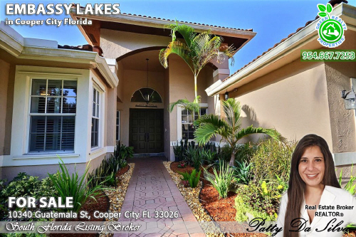 Embassy Lakes Homes For Sale 10340 Guatemala St Cooper City